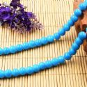 Beads, Glass, Blue , Round shape, Diameter 8mm, 10 Beads, [BHB0170]